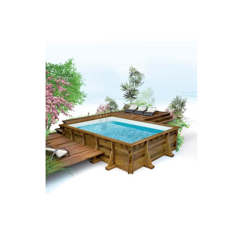 Piscine bois reseau piscine rectangulaire haute qualite for Piscine en bois rectangulaire