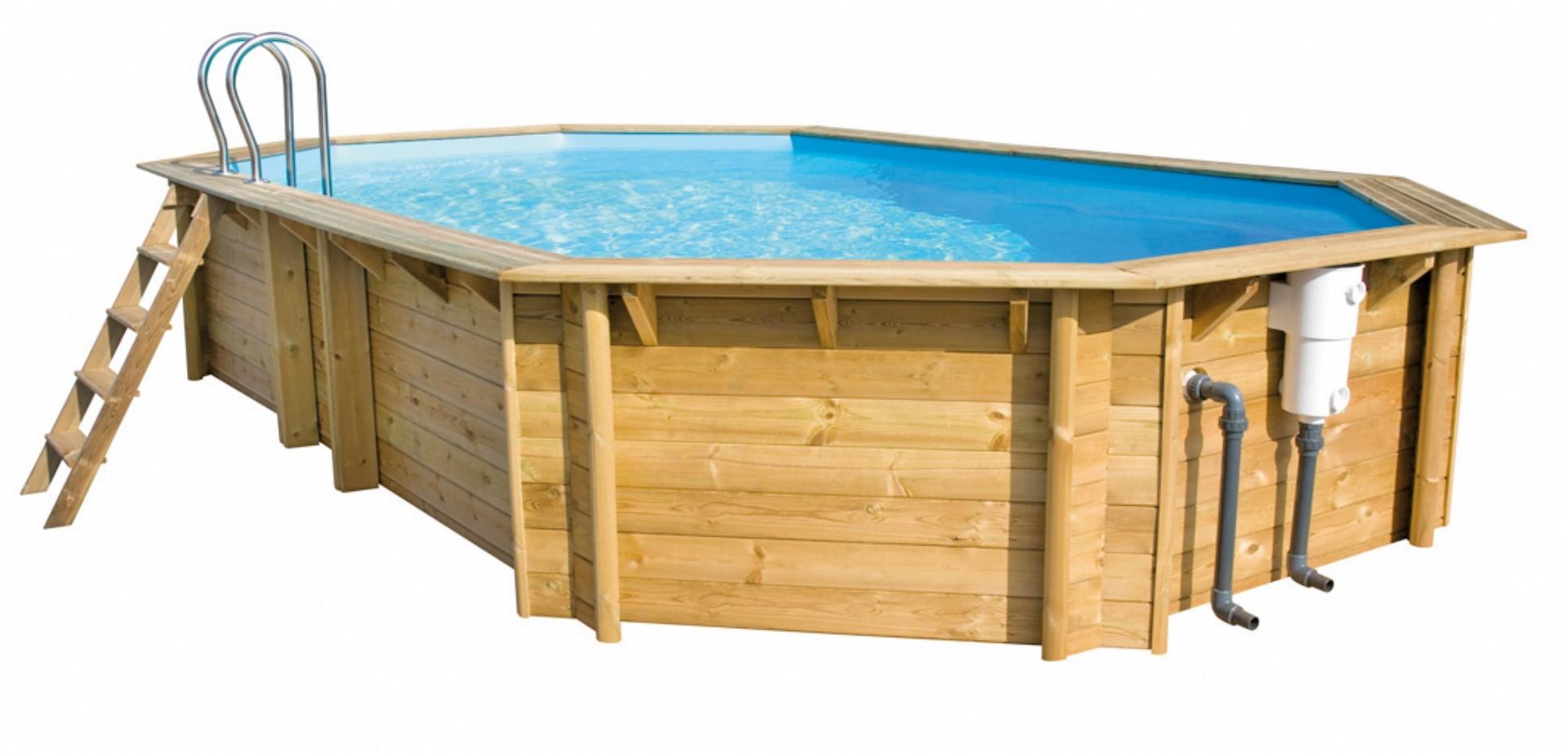 Piscine bois octogonale 3m for Prix liner piscine bois octogonale