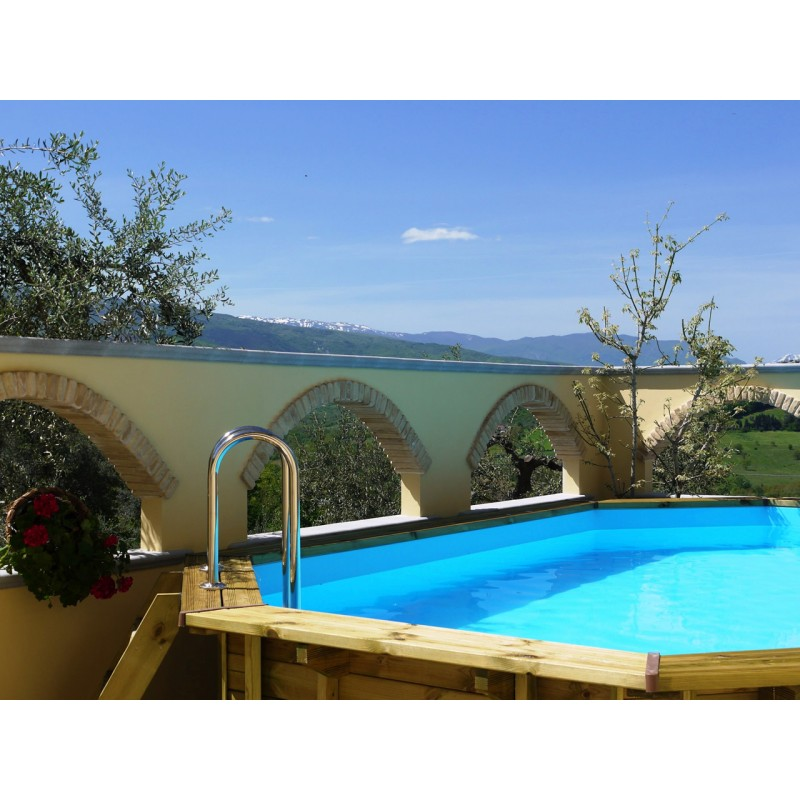 Piscine bois octogonale prix discount for Piscine discount