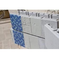 Enduit Basecrete application sur blocs en polystyrène