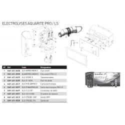 Pièces détachées électrolyseur AQUARITE PRO