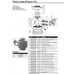 pièces détachées pour filtre à sable PROPURE S21 - S25 - S28